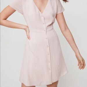 Aritzia Wilfred Nazaire Dress in Rose Quartz